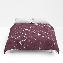 Deep Burgandy Cross-stitch Comforters