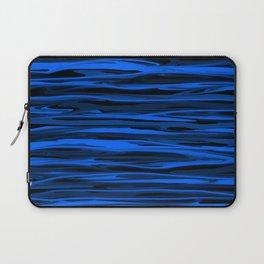 Slate Blue and Light Aqua Blue Stripes Laptop Sleeve