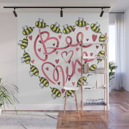 Bee Mine Valentine Wall Mural
