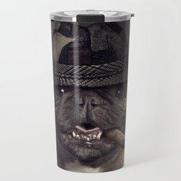 French bulldog with cigar Travel Mug