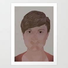 Silent I Art Print