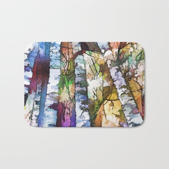 Aspen Trees Bath Mat