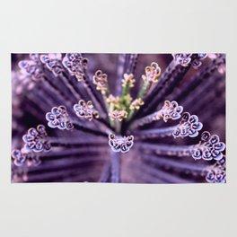 Purple Euphorbia in Detail Rug