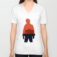 marty mcfly V-neck T-shirts featuring Marty! by JM Illustration