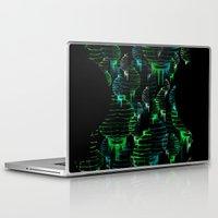 green lantern Laptop & iPad Skins featuring Lantern - green by Emma Stein
