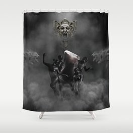 Laughing at my disaster Shower Curtain