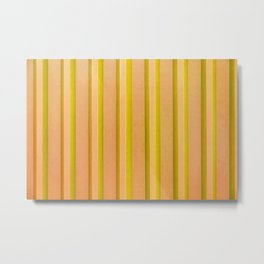 Stripes - Pumpkin Metal Print
