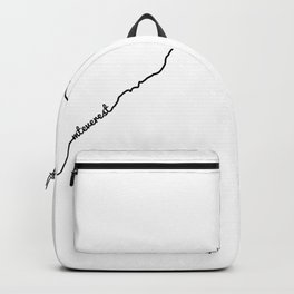 Mt Everest Art Print / White Background Black Line Minimalist Mountain Sketch Backpack