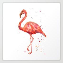 Flamingo, Pink Flamingo, Tropical, bird art, Florida Art Print