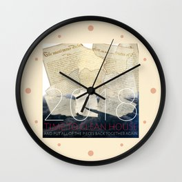 2018, Time to Clean House Wall Clock