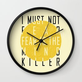 Dune - The Litany Against Fear (BLK) Wall Clock