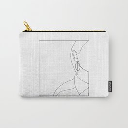 Face minimal line drawing Carry-All Pouch