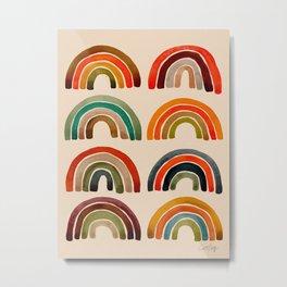 Rainbow Watercolor – Retro Palette Metal Print