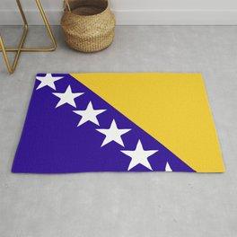 Bosnia and Herzegovina flag emblem Rug