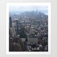 The Top of New York Art Print