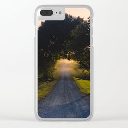 Best Farm Tree Sunset 2 Clear iPhone Case