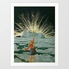 golden hair Art Print