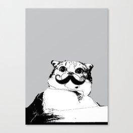Moustache cat Canvas Print