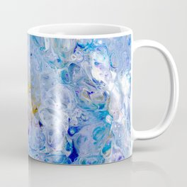 Cool Blue and Gold Coffee Mug