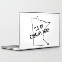 minnesota Laptop & iPad Skins featuring Minnesota Equality by The Happy Taurus