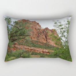 Temple of Sinawava And Virgin River Rectangular Pillow