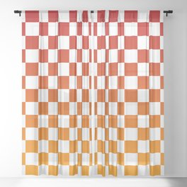 Chessboard Gradient Sheer Curtain