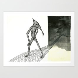 Walking Backward Art Print