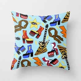 Glam Rock Starter Pack Print Throw Pillow
