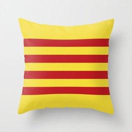 Catalunya: Catalan Flag Throw Pillow