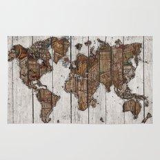 Wood Map 2 Rug