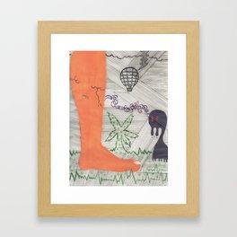 imagine enemy Framed Art Print