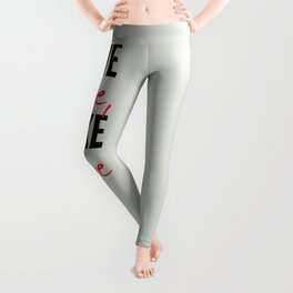 Give love, take love, tyopgraphy illustration, gift for her, people in love, be my Valentine, Romant Leggings
