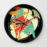 buffalo Wall Clocks featuring Buffalo by Dimitra Tzanos