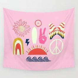 peace + harmony + surf Wall Tapestry