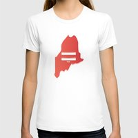 maine T-shirts featuring Maine Love by Tank Top Sunday