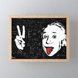 Silly Wisdom - Albert Einstein Framed Mini Art Print