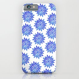 Symmetrical Shapes - Blue Heart iPhone Case