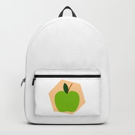 Green Apple Background Backpack