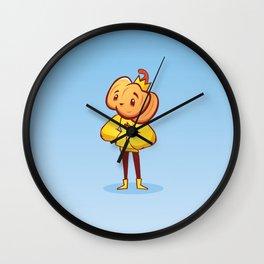 Pumpkin Guy Wall Clock