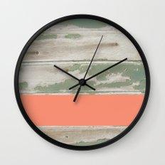 Wood Color Block Wall Clock