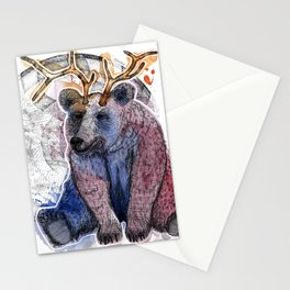 Bear relaxed Stationery Cards