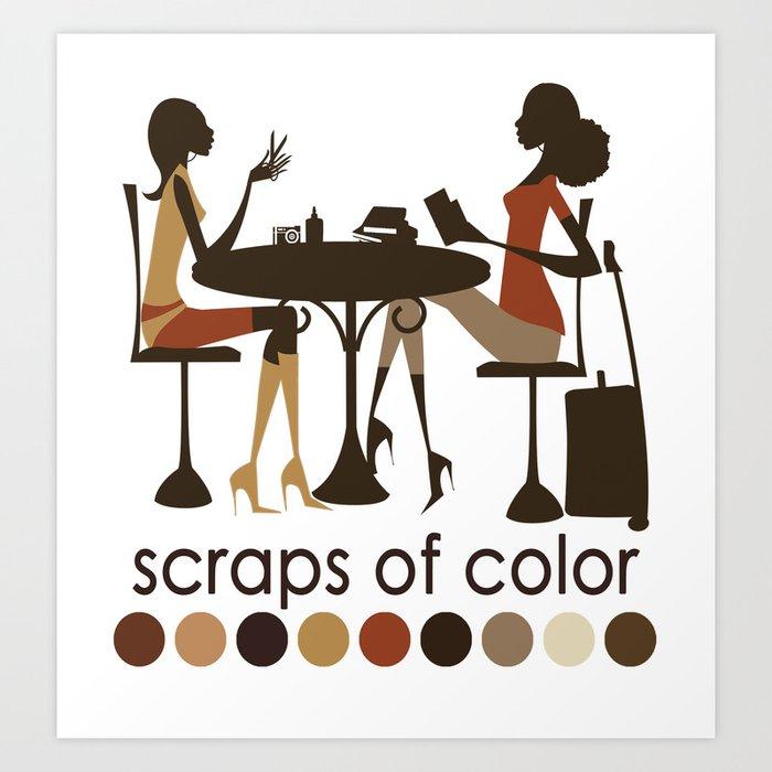 Scraps of Color Limited Edition T-shirt Art Print