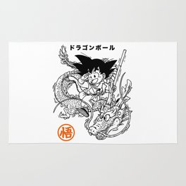Goku and shenron Rug