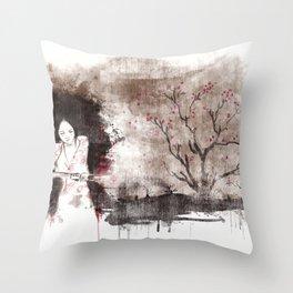 Derrotar al enemigo (color version) Throw Pillow