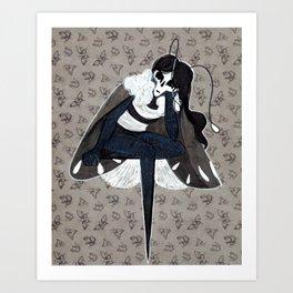 Mothgirl Art Print