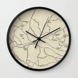 Vintage Mount Monadnock Trail Map (1910) Wall Clock