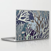 under the sea Laptop & iPad Skins featuring Under the Sea - Abstract by Paula Belle Flores