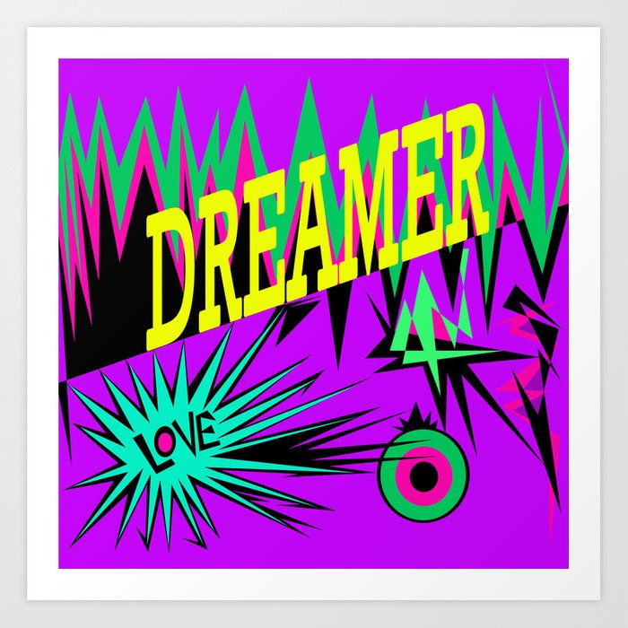 Keep Calm And Dream Sweet Dreams My Love Art Print By Azima Society6