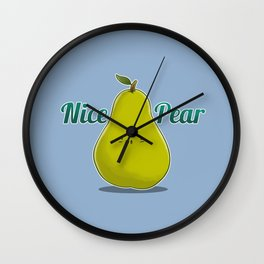 Nice Pear Wall Clock