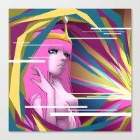 princess bubblegum Canvas Prints featuring Princess Bubblegum by Kimball Gray